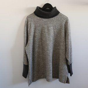 LANDS' END Comfy Grey Blend Turtleneck Sweater